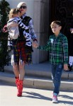 Gwen Stefani leaves church in LA with sons Kingston and Apollo Rossdale