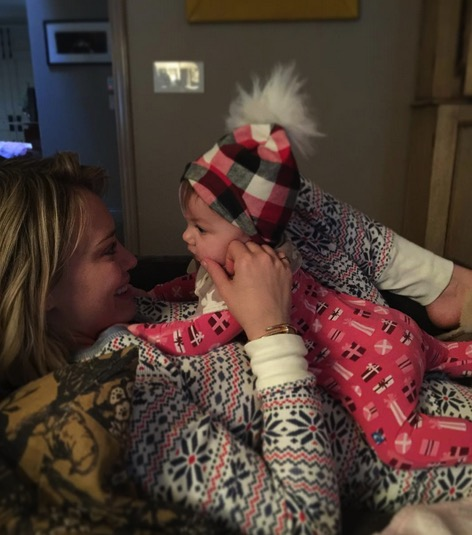 Haylie Duff's daughter Ryan with sister Hilary