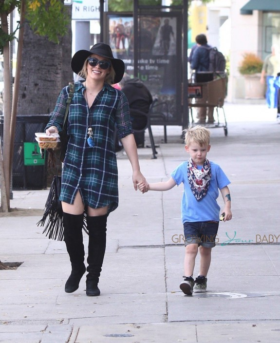 Hilary Duff Steps Out With Son Luca Comrie In Studio City