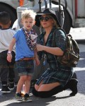 Hilary Duff Steps Out With Son Luca In Studio City