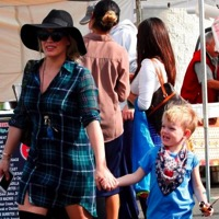 Hilary Duff Stops By The Market With Her Son Luca
