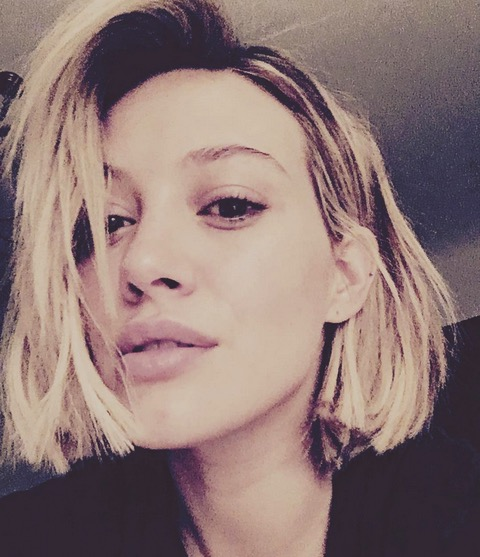 Hilary Duff chops off her hair