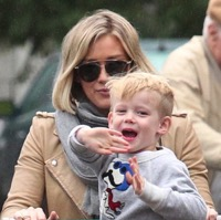 Hilary Duff Shops With Her Son in LA