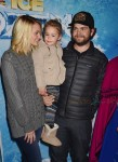 Jack and Lisa Osbourne with daughter pearl at the premiere of Disney On Ice's 'Frozen' at Staples Center LA