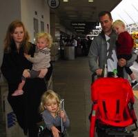 James Van Der Beek & His Family Depart at LAX