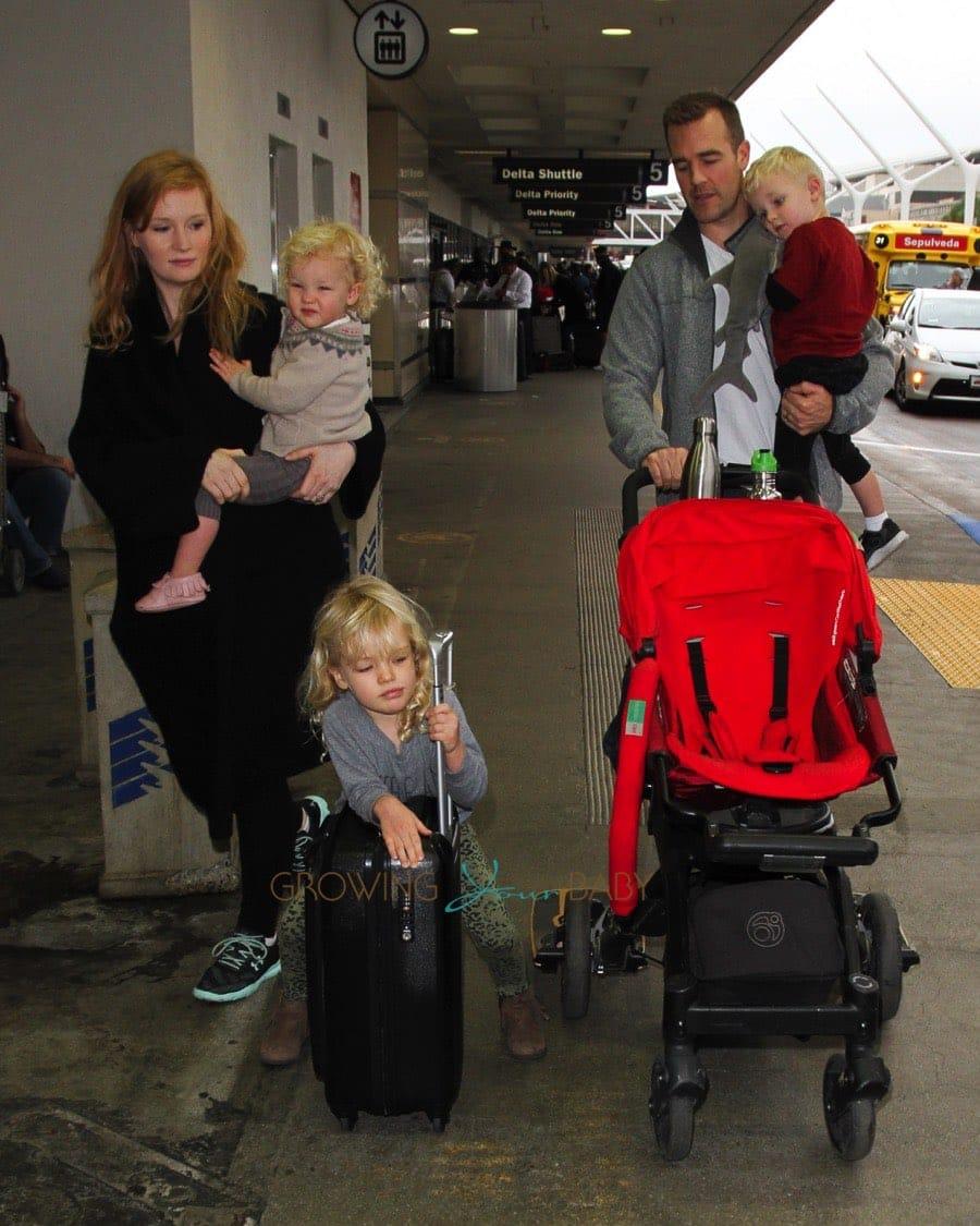 James Van Der Beek Amp His Family Depart At Lax