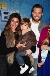 Jamie-Lynn Sigler, Beau Dykstra and son Cutter Dykstra at the premiere of Disney On Ice's 'Frozen' at Staples Center LA