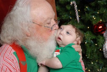 Jaxon Buell with Santa
