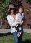 Jenna Dewan Tatum and Daughter Everly at a pre-thanksgiving party