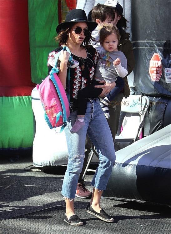 Jenna Dewan Tatum and Daughter Everly at the Farmer's Market