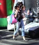 Jenna Dewan Tatum and Daughter Everly shop at the Farmer's Market