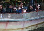 Kanye West and Corey Gamble at Disneyland with Reign and Penelope Disick