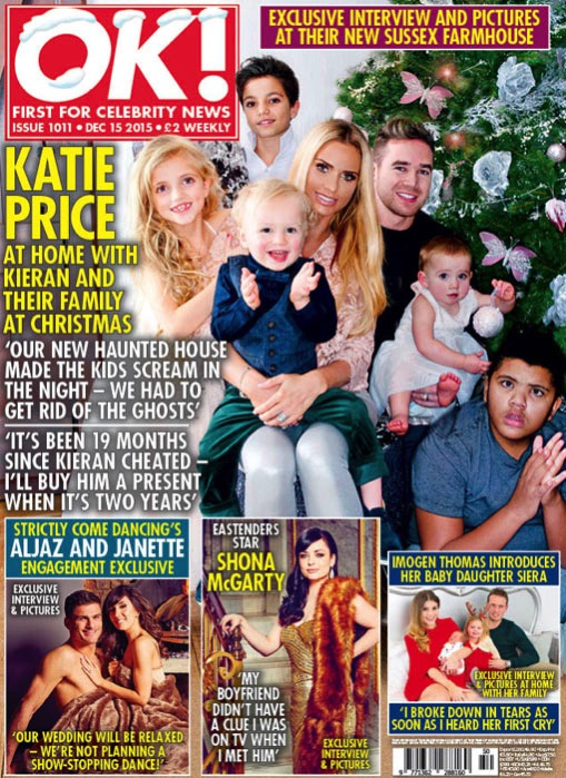 Katie Price and husband Kieran Hayler cover OK Magazine with her 5 kids, Junior, Princess, Harvey, Jett and Bunny