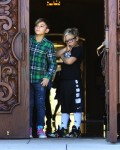 Kingston and Zuma Rossdale leave church in LA