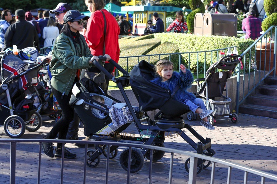 Kourtney Kardashian at Disneyland with kids Penelope and Reign Disick
