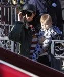 Kourtney Kardashian at Disneyland with son Reign Disick