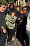 Kourtney Kardashian at Disneyland with son Reign Disick and BIL Kanye West