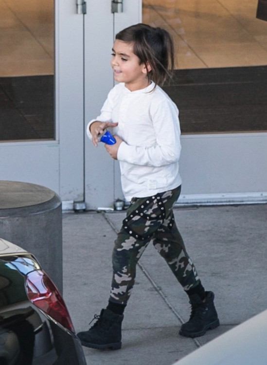 Mason Disick goes shopping in Woodland Hills, California