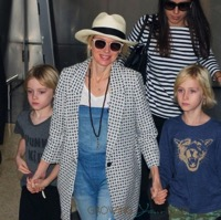 Naomi Watts Arrives in Australia With Her Boys