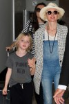 Naomi Watts arrives in Australia with sons Samuel and Alexander