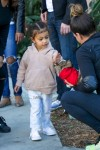North West goes shopping  in Woodland Hills, California