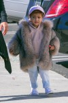North West wears fur while shopping in Woodland Hills, California