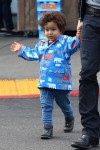 Olivier Martinez Shops With Son Maceo in LA