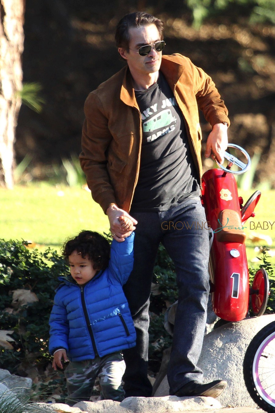 Olivier Martinez Has A Father Son Afternoon Out With Maceo