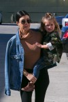 Penelope Disick and Kourtney Kardashian shopping  in Woodland Hills, California