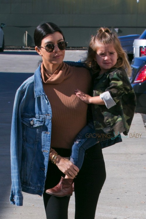 Penelope Disick and Kourtney Kardashian shopping in Woodland Hills, California