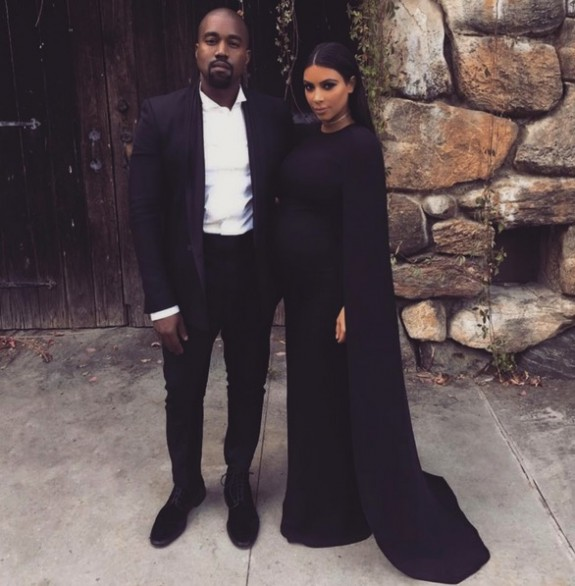 Pregnant Kim Kardashian and husband Kanye West