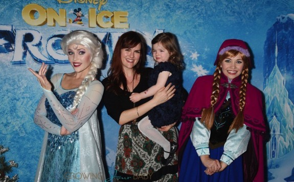 Sara Rue and daughter Talulah Price at the premiere of Disney On Ice's 'Frozen' at Staples Center LA