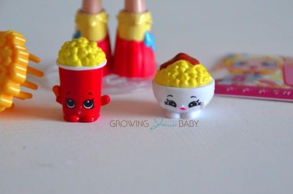 Shopkins Shoppie Popette - exclusive shopkins Bowlinda and Polly Popcorn