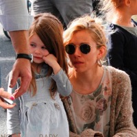 Sienna Miller Spends Sunday At The Market With Marlowe