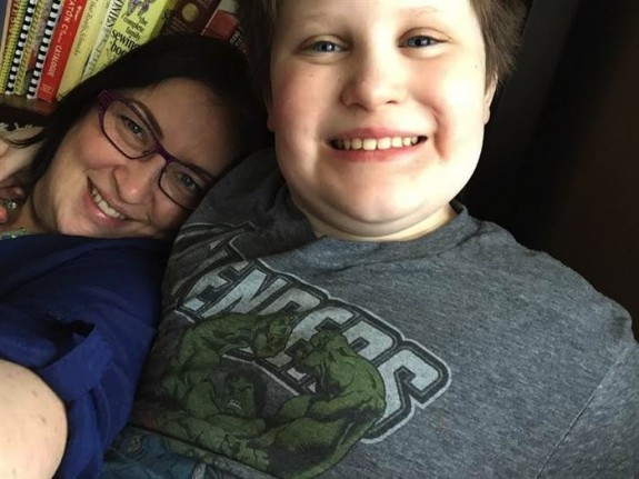Stacey Haley with son Will