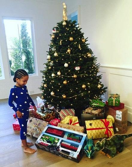 Tia Mowry's son Cree Hardrict Christmas 2015