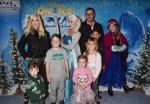 Tori Spelling and Dean McDermott with kids Jack Liam,  Stella, Finn and Hattie at the premiere of Disney On Ice's 'Frozen' at Staples Center LA