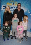 Tori Spelling and Dean McDermott with kids Liam,  Stella, Finn and Hattie at the premiere of Disney On Ice's 'Frozen' at Staples Center LA