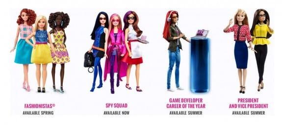 2016 barbie dolls careers