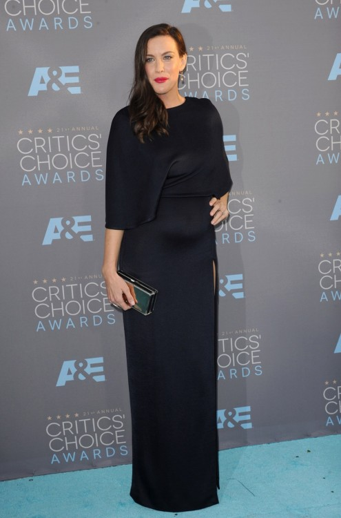 A pregnant Liv Tyler attends The 21st Annual Critics' Choice Awards in Los Angeles
