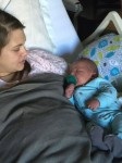 Ashley Box with her 12lb baby boy Kasen