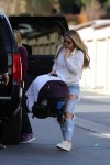 Briana Jungwirth  with son Freddie Reign out in LA