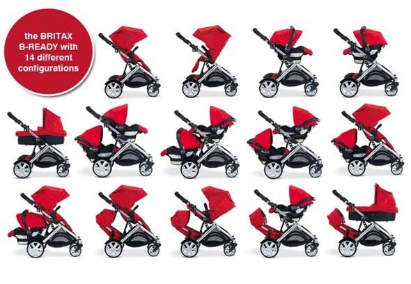 Britaz B-ready stroller configurations