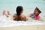Christina Milian Enjoys A Beach Day With Her Daughter Violet Nash In Miami