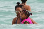 Christina Milian and daughter Violet Madison enjoy the warm South Beach weather