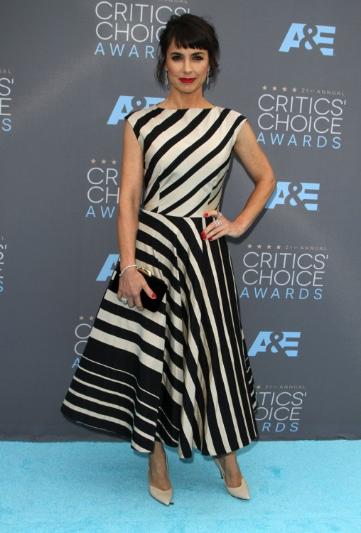 Constance Zimmer attends The 21st Annual Critics' Choice Awards in Los Angeles