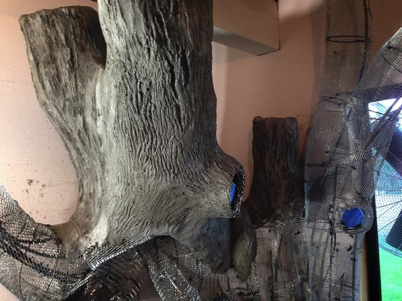 Dad Creates Magical Treehouse in Daughter's Room - CONCRETE PHASE