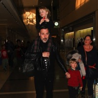 David Furnish Arrives At LAX With His Boys