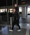 David Furnish Departs LAX With Son Elijah