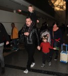 David Furnish Departs LAX With Two Sons Zachary and Elijah
